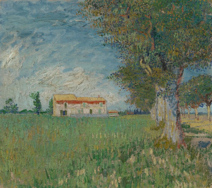 Farmhouse in a wheatfield 1888