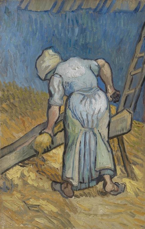 Peasant Woman Bruising Flax 1889