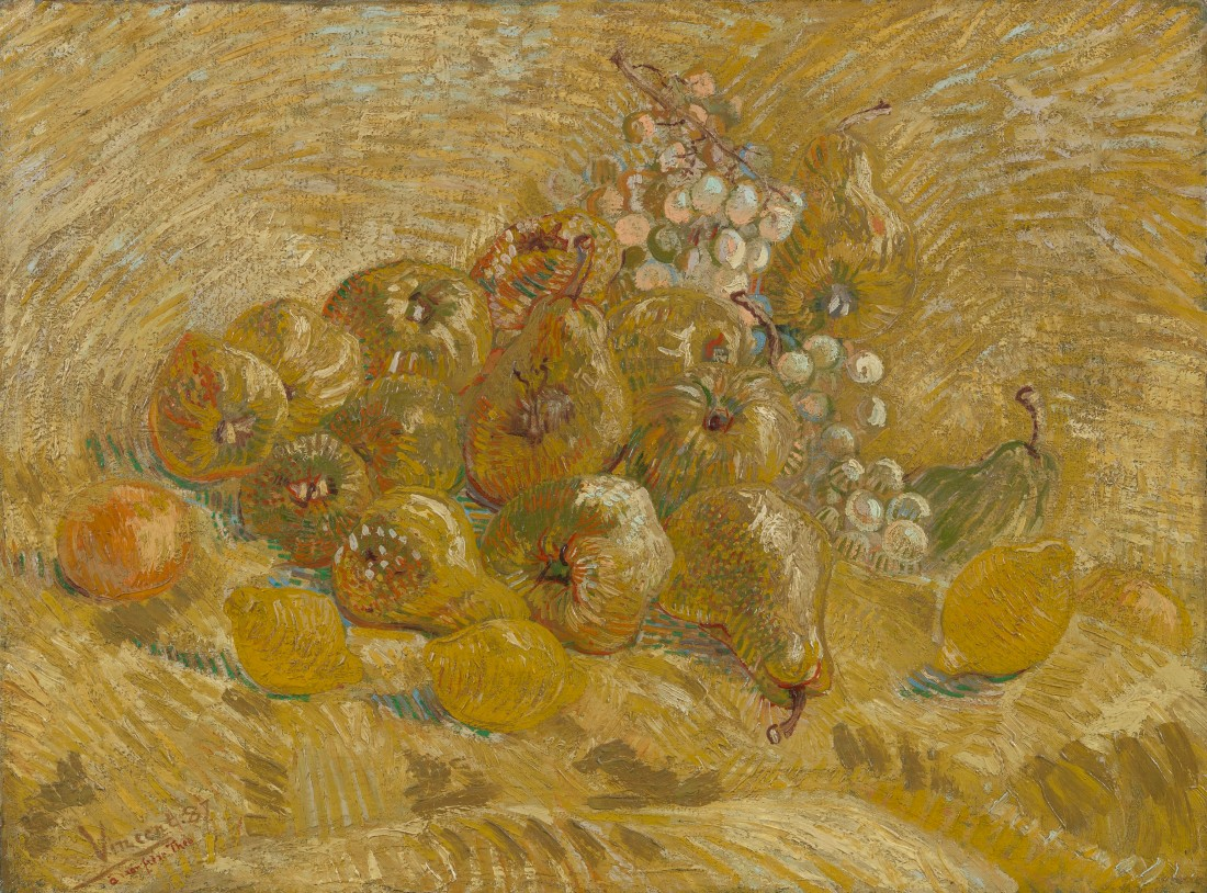 Quinces, lemons, pears and grapes 1887