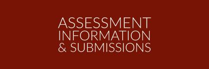 Assessment info and submissions